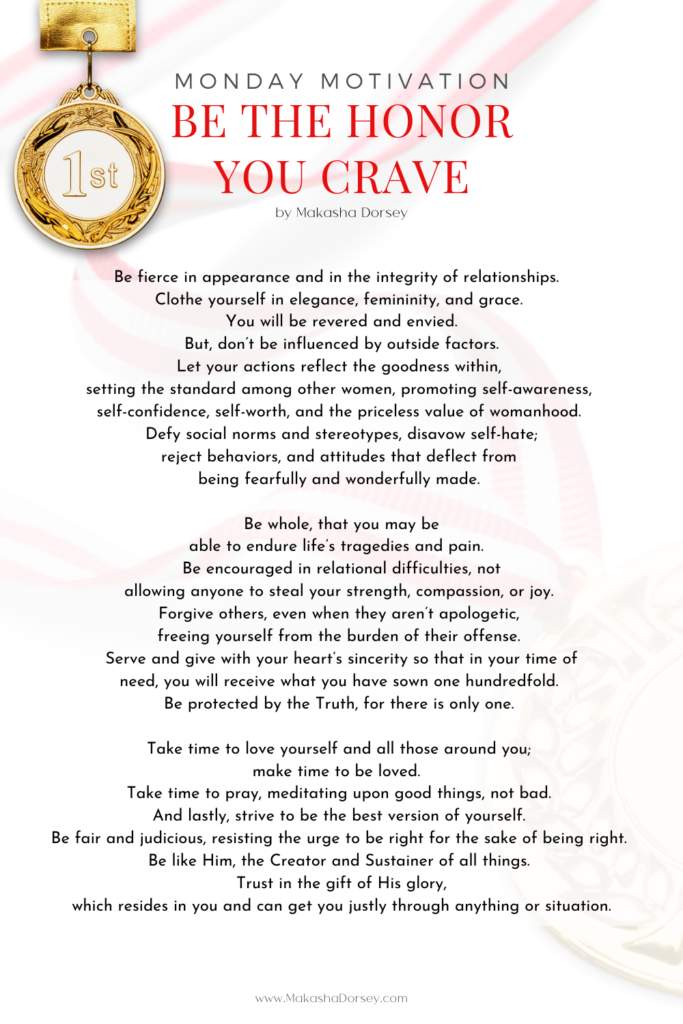 Be the Honor You Crave